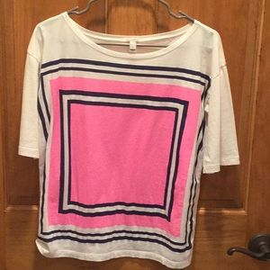 J Crew light weight colorful top